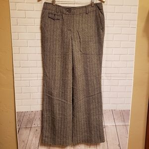 Talbots Sz 6 Signature Flare Tweed Wool Pants